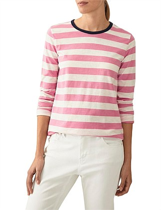 Bold Striped Organic Cotton Slub T-Shirt