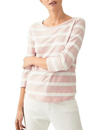Half Sleeve Organic Cotton Striped T-Shirt