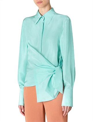 MINT SILK RAPTURE SHIRT