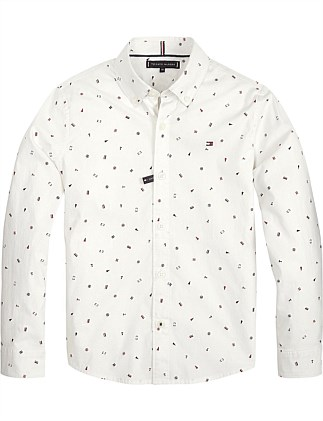 Allover Print L/S Shirt (Boys 8-14 Years)