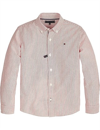 Oxford Stripe L/S Shirt (Boys 8-14 Years)