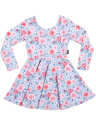 PRETTY FLOWERS FULL CIRCLE LS MABEL DRESS