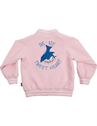EMBROIDERED BLUE BIRD JACKET