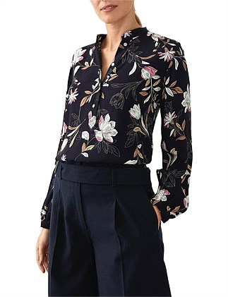 Fine Lined Floral Blouse
