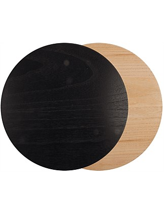 Wooden Rd Black Placemat