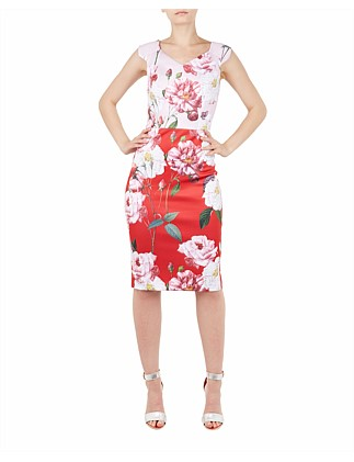 Saafi Iguza Two Tone Pencil Dress
