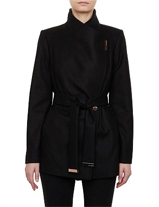 Rytaa Short Wool Wrap Coat