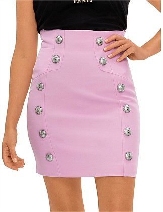 Short High Waist 6 Button Skirt