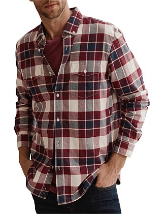 Long Sleeve Regular Varsity Check Shirt