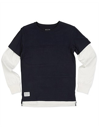ROLER Emb Chest L/S Tee (Boys 8-16 Years)