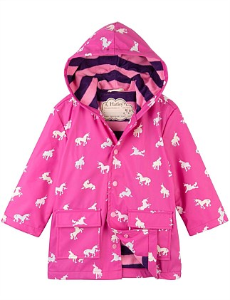 Colour Changing Unicorn Silhouettes Raincoat