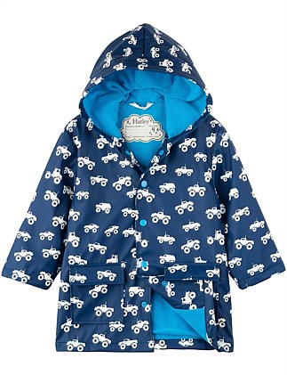 Colour Changing Monster Trucks Raincoat