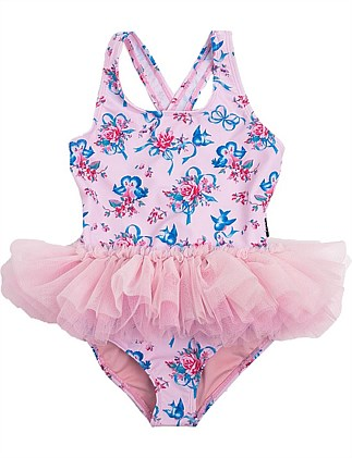 Blue Birds Tulle One Piece (Girls 2-7)