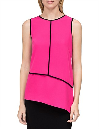 Sleeveless Angl Btm W/Pipng