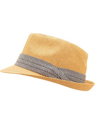 TRILBY WITH TRIPLE LAYER BAND