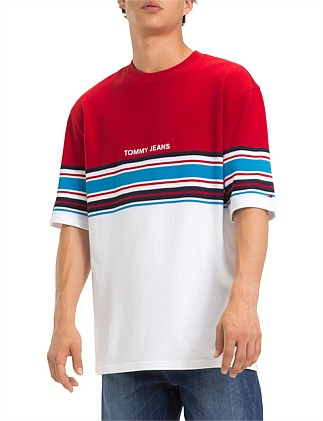 b583427c0ced35 TJM PLACED STRIPE TEE. TOMMY JEANS