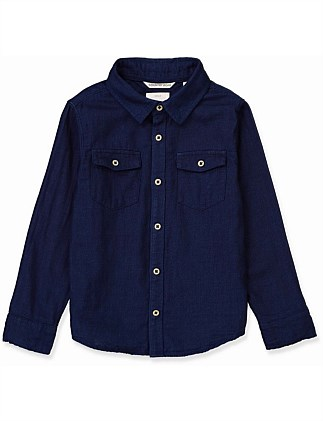 Indigo Double Faced Shirt (Boys 2-12)