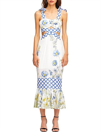 c1f02911600 Flower Girl Midi Strap Dress Special Offer