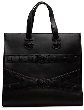 EMBOSSED MEDUSA ZIP TOTE BAG