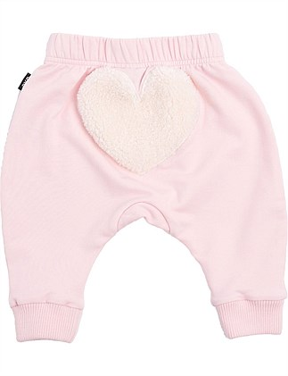 Heart Pink Track Pants(0-3M-18-24M)