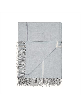 Grid Throw Blue