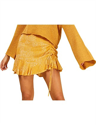 golden safari mini skirt