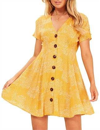 golden safari tee dress
