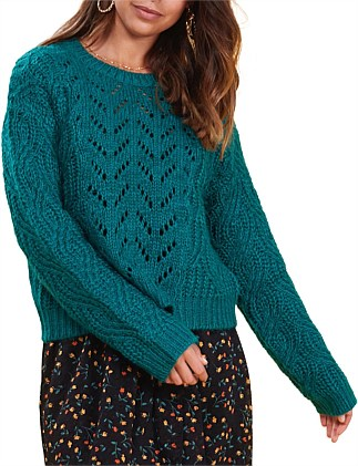 in touch knit sweater