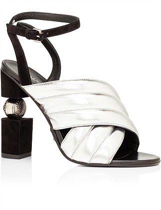 SANDAL JANA-METALLIZED LEATHER