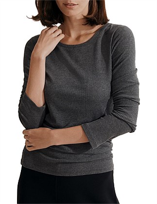 Long Sleeve Rib Layering T-Shirt
