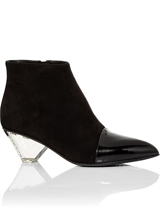LUCKY SHORT BOOT WITH PLEXI HEEL