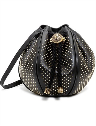 MINI B-BUCKET BAG WITH MICRO STUDS