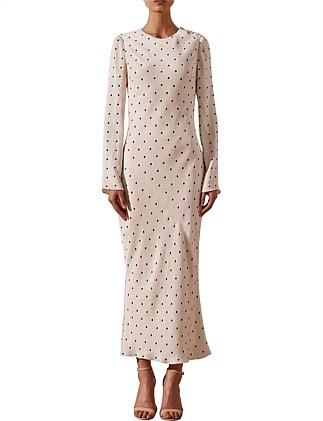 ea8c994f547 O Dell Long Sleeve Bias Midi Dress Special Offer