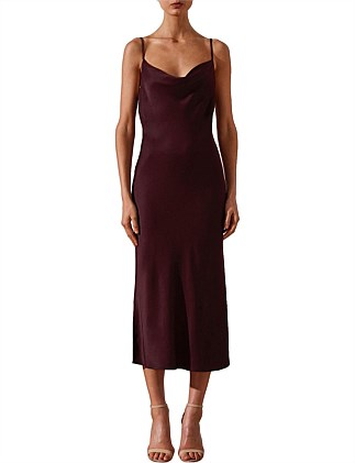 Morrison Bias Cowl Midi Dress