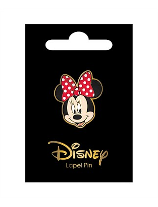 DISNEY MINNIE HEAD LAPEL PIN