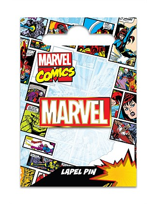MARVEL LOGO LAPEL PIN