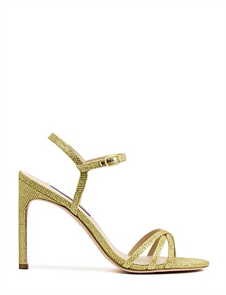 e8355ffb6622 STARLA105 STRAPPY DRESS SANDAL Special Offer. Black Patent  GOLD. Stuart  Weitzman