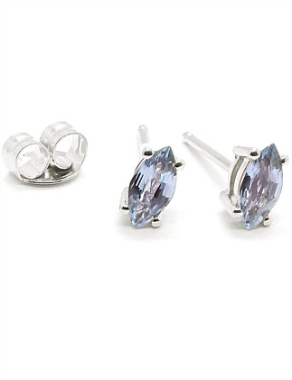 Marquise Pale Blue Sapphire Studs