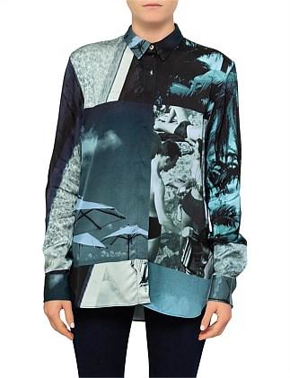 f17f4bdb Palm Print Short Sleeve Shirt. Paul Smith
