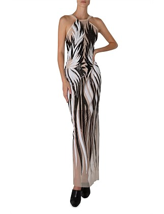 HOLLYWOOD BOUND HALTER GOWN