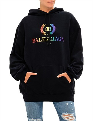 BB Rainbow Embroidered Logo Oversized Hoodie