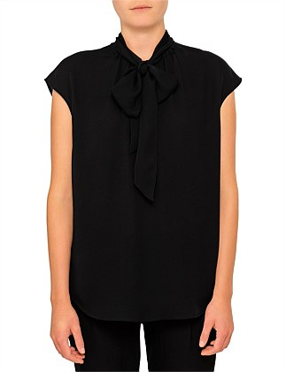 The New Standard Sleeveless Blouse With Neck Tie