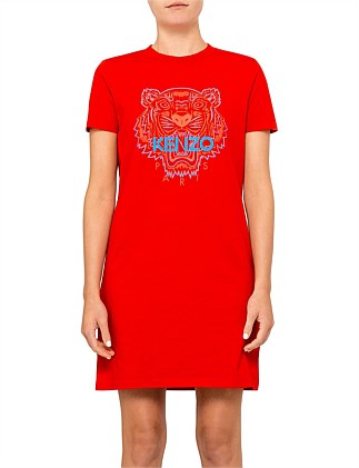 Bicolor Tiger Single Jersey Tshirt Dress