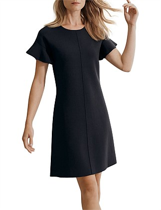 Compact Knit Shift Dress