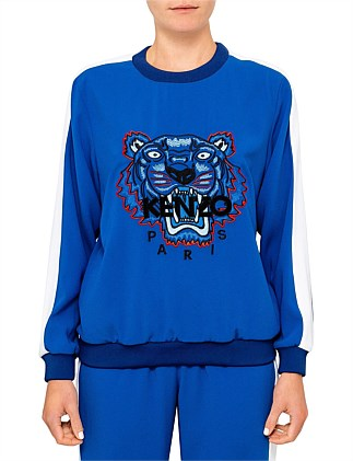Kenzo Logo Sporty Crepe Back Satin Sweat Shirt