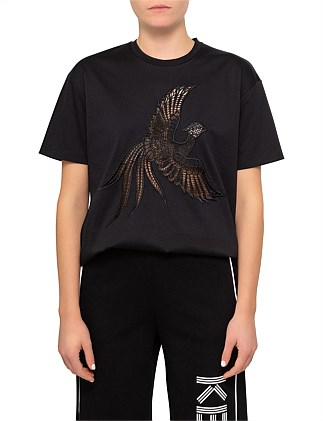 Pima Cotton Jersey Embroidered Flying Phoenix Tshrit