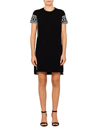 Kenzo Core Cotton Skate Jersey Mini T Shirt Dress