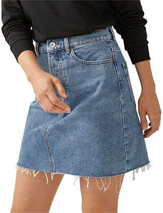 RAE RIGID DENIM SKIRT