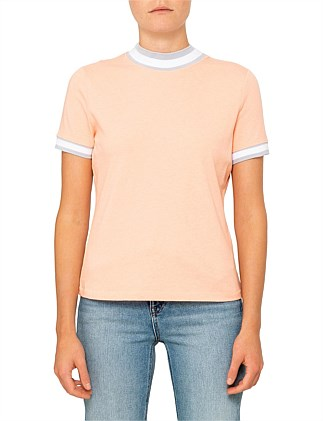High Twist Jersey Short Sleeve T-Shirt With Rib