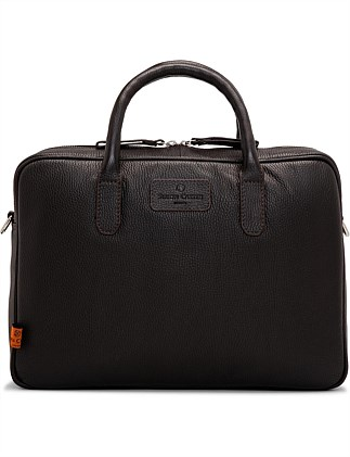 Hove leather laptop bag in brown leather